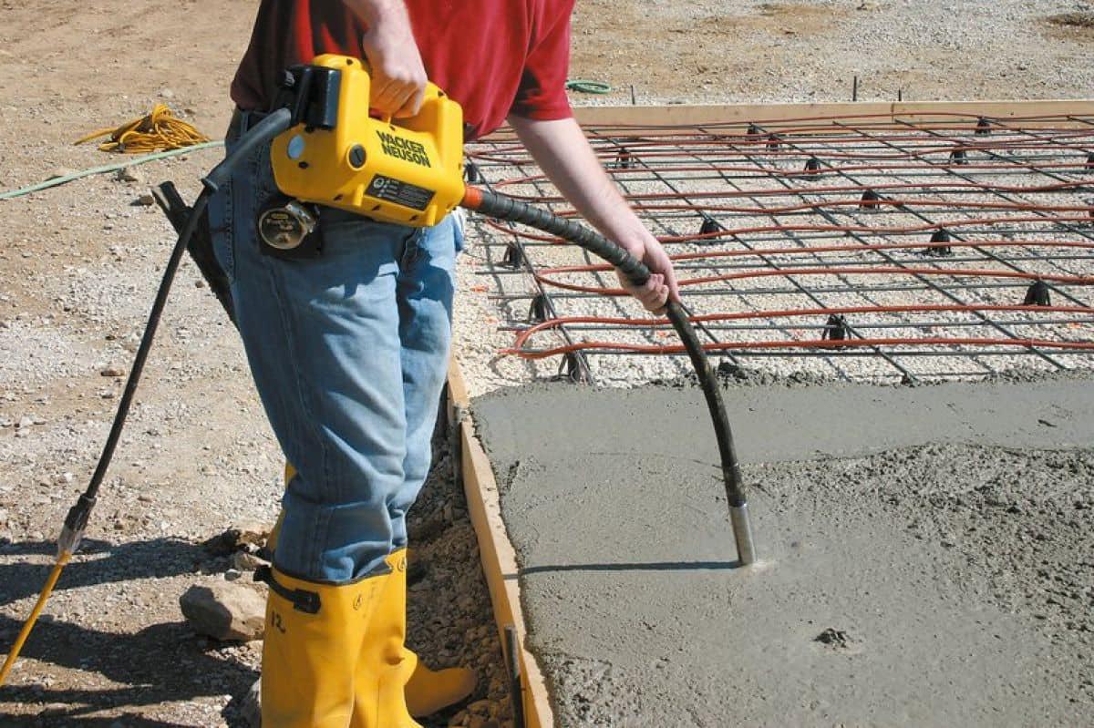 Проверка усадки бетона вибратор для бетона купить б у
